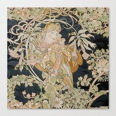 1898 - 1900 Femme a Marguerite by Alphonse Mucha Canvas Print
