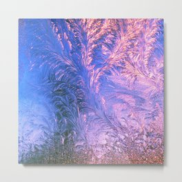 Ice Fractals Metal Print
