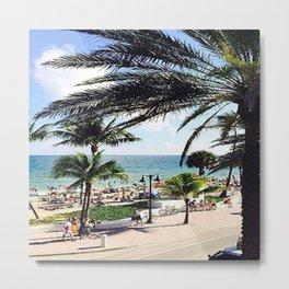 Ft. Lauderdale Beach   Photo Metal Print