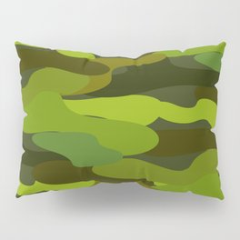 Camo-licious Collection: Wild Jungle Green Camouflage Pattern Pillow Sham