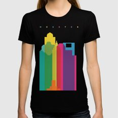 Shapes of Houston. Accurate to scale Black Womens Fitted Tee LARGE