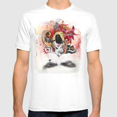 MINGA x Sleepless is the Watchful Eye MEDIUM White Mens Fitted Tee