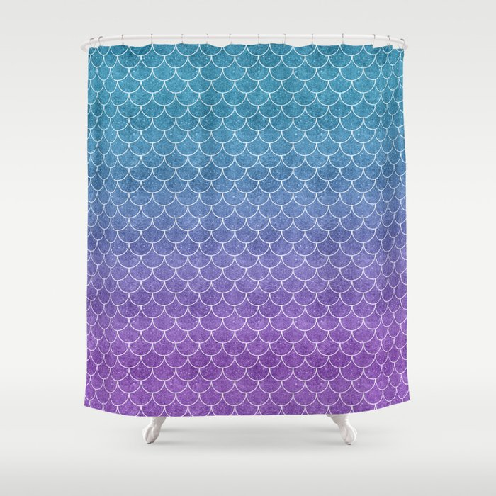 Mermaid Scales In Cotton Candy Shower Curtain