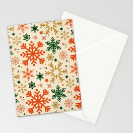 Snowflake Collection – Retro Palette Stationery Cards