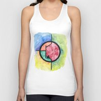 transistor Tank Tops featuring Watercolor NPN BJT by EEShirts