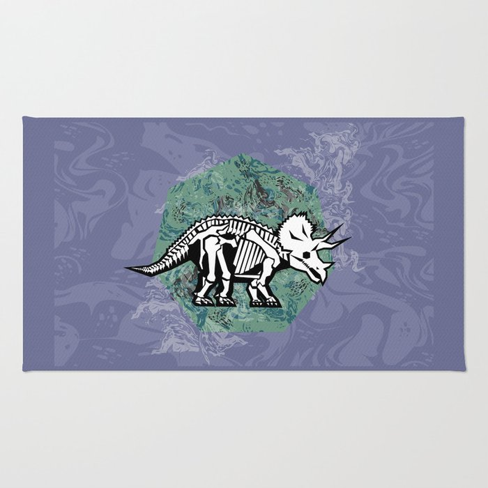 Triceratops Fossil Rug