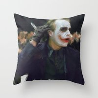 hello beautiful Throw Pillows featuring Hello Beautiful by  Maʁϟ