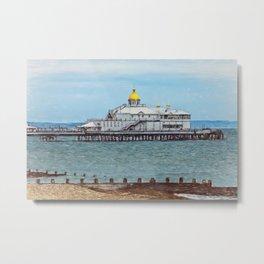 Eastbourne Pier as Digital Art Metal Print