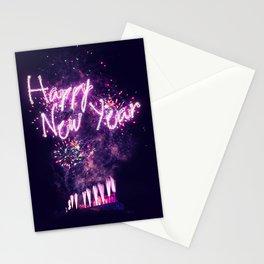 Happy New Year Fireworks over Edinburgh Stationery Cards