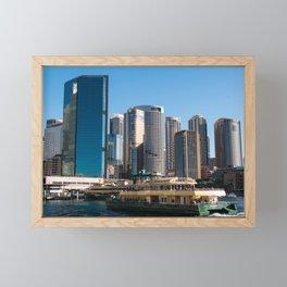 Sydney City Skyline Framed Mini Art Print