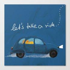 let's take a ride.. Canvas Print