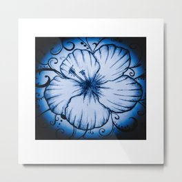AquaFlower Metal Print