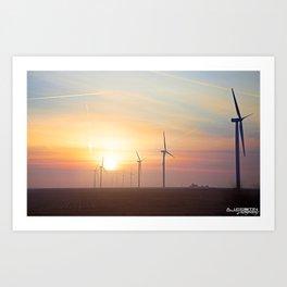 Indiana Sunrise Art Print