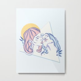 Lovergirls Metal Print