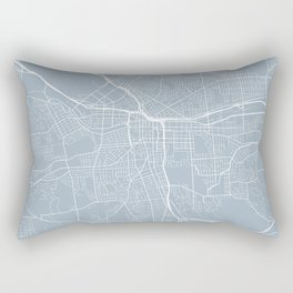 Syracuse Map, USA - Slate Rectangular Pillow