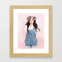 Floral Eleanor Framed Art Print