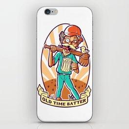 Drunkard Baseball PLAYER - Cinnabar RED iPhone Skin