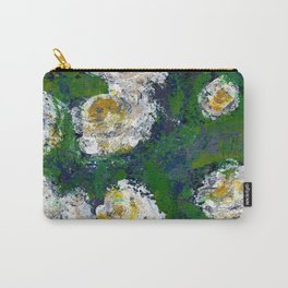 White flowers - Botanical Carry-All Pouch