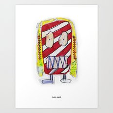 Recess Girl with Too Many Fruit Roll-Ups Art Print