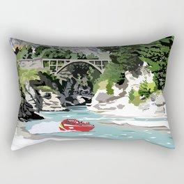Shotover River, Queenstown, New Zealand Rectangular Pillow