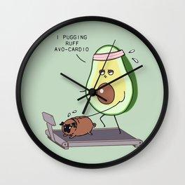 I PUGGING RUFF AVOCARDIO Wall Clock