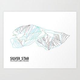 Silver Star, BC, Canada - Minimalist Trail Art Art Print