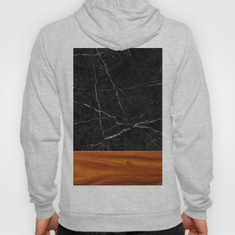Marble and Wood Hoody