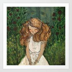 Ginger Bride Art Print