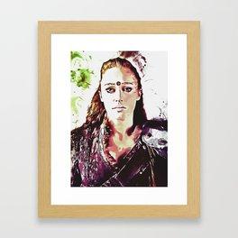 Commander Lexa - The 100 - Heda Framed Art Print