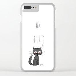 I am fin- Clear iPhone Case