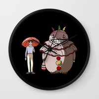 ahs Wall Clocks featuring Twisty and Dandy by Huebucket