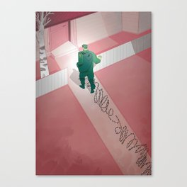 Back home: post traumatic stress Canvas Print
