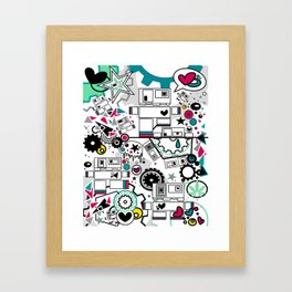 CUTE ROBOTS Framed Art Print