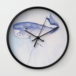 Flying a Whale Wall Clock