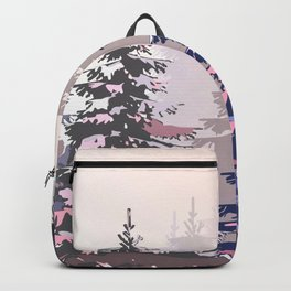 Pine trees pattern Backpack