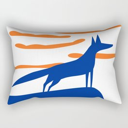 The blue fox Rectangular Pillow