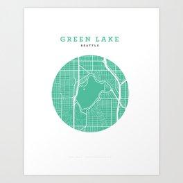 Green Lake, Seattle Art Print