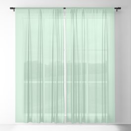 Pastel green color clear Sheer Curtain