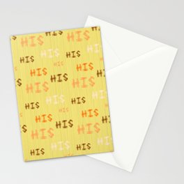 "Christian Prophetic Worship ""HIS"" Stationery Cards"
