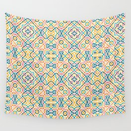 Geometric line seamless pattern Wall Tapestry