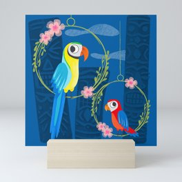 Squeaky Beakies With Freaky Tikis Mini Art Print