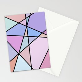Multicolor Geometric Lines and Shapes Stationery Cards