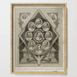 Chicago White Stockings Baseball Champions 1876-77 Serving Tray