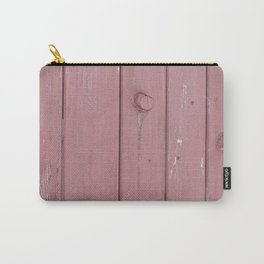 red old rustic wood wall Carry-All Pouch