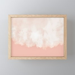 Cotton candy in beige pink Framed Mini Art Print