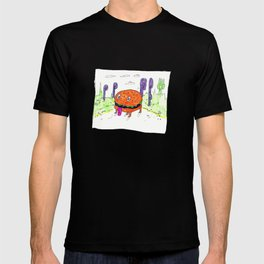 burger dog T-shirt