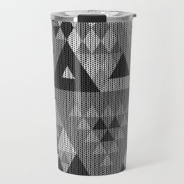 triangle-grayscale-KNIT Travel Mug