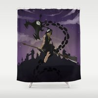 medusa Shower Curtains featuring Medusa by Arnix