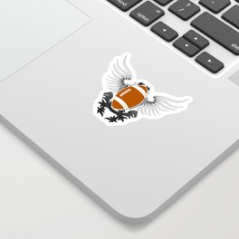 Football with white wings Sticker