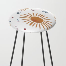 sunbursts Counter Stool